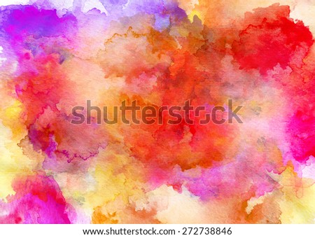 Colorful watercolor drawing for use in artistic background - stock photo