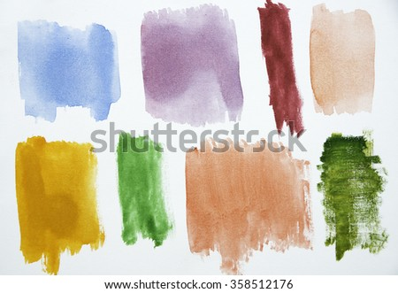 Colorful Watercolor Texture, great for use as a background in your design.