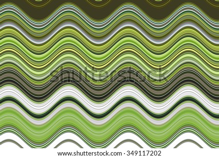 Colorful wavy stripes pattern. Horizontal curvy lines. Illustration.