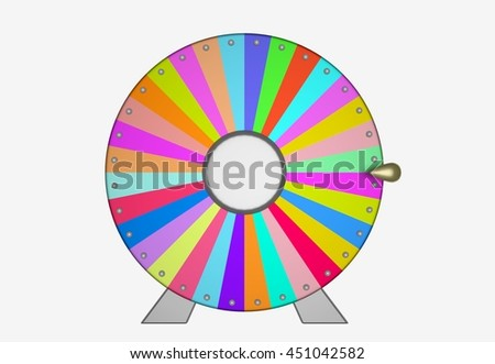 Colorful wheel of fortune as a symbol of gambling or lucky. 3D illustration. 3D illustration.