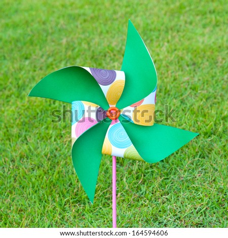 Colorful windmill - stock photo