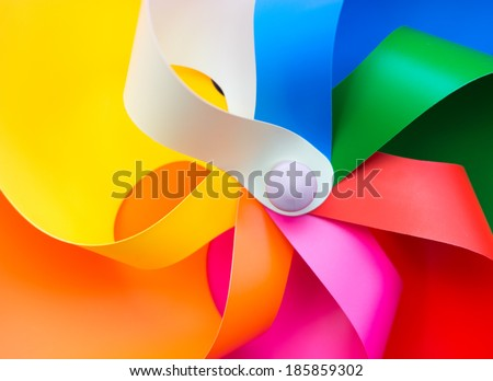 Colorful windmill - stock photo