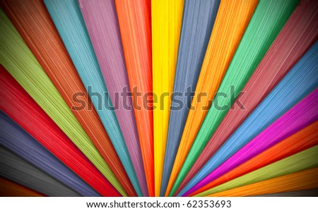 colorful wood - stock photo