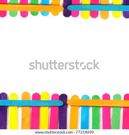 colorful wood ice-cream stick - stock photo