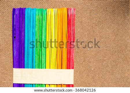 colorful wood ice-cream stick,background,texture
