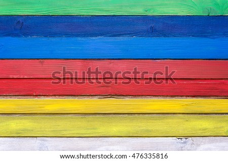 colorful wooden  background in stripes