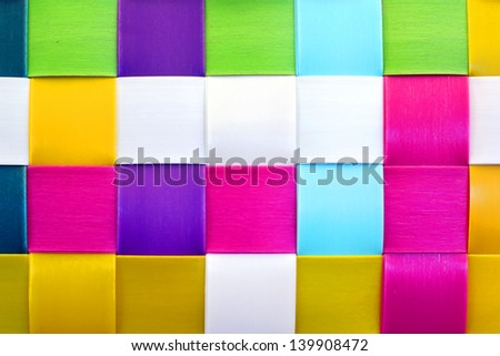 Colorful woven plastic as background