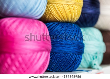 Colorful yarn for knitting  - stock photo