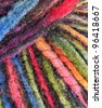 Colorful yarn - pattern / background - stock photo