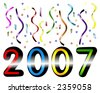 Colorful 2007 Year, Fun and festive concept - stock vector