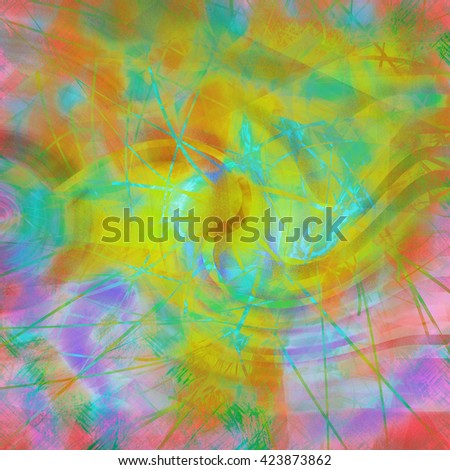 colorful yellow green pink orange and purple abstract  modern art background