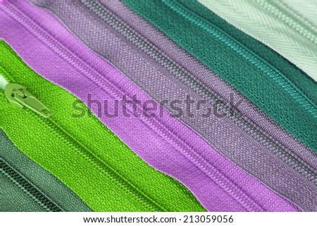 Colorful zippers fexture - stock photo