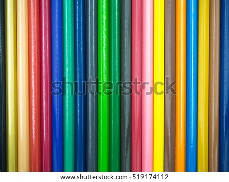 Colorfull background color pencil