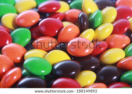 colorfull chocolate candies  - stock photo