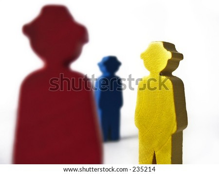 Colorfull figurines - stock photo