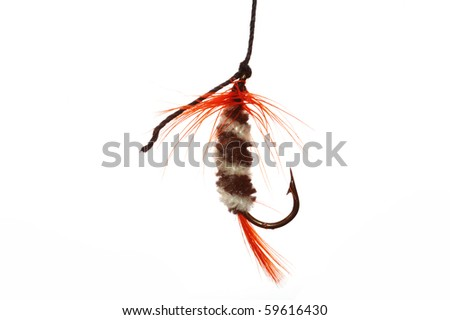 colorfull  fishhook  isolated on white background