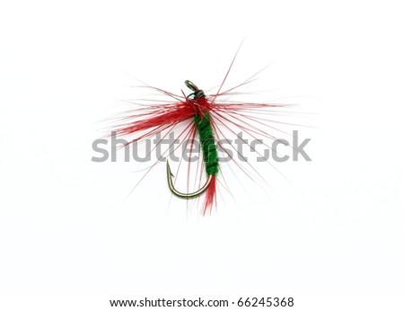 colorfull fishhook isolated on white background - stock photo