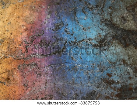 Colorfull grunge metal background - stock photo