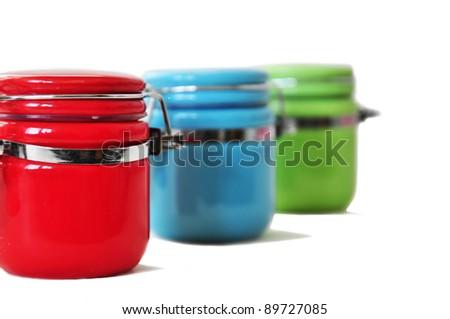 colorfull jars - stock photo