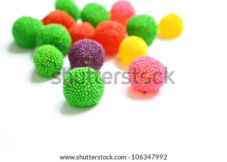Colorfull jelly candies - stock photo