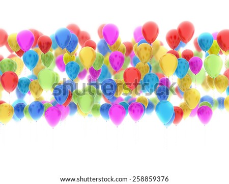 Colorfull party balloons isolated on white background  - stock photo