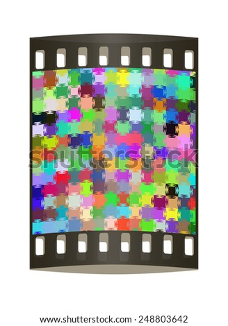 Colorfull pazzle background. The film strip - stock photo