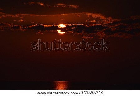 Colorfull Sunrise in the St Augustine, FL USA - stock photo
