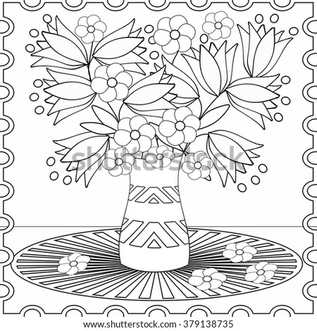 Coloring Book For Children And Adults Colors Shapes