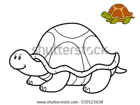 Coloring Book Children Turtle Stock Illustration 550523638 ...