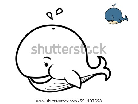 Coloring Book For Children Whale