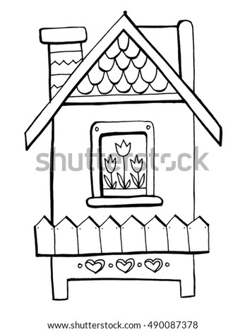 Coloring Book For Kids A Nice House Smart