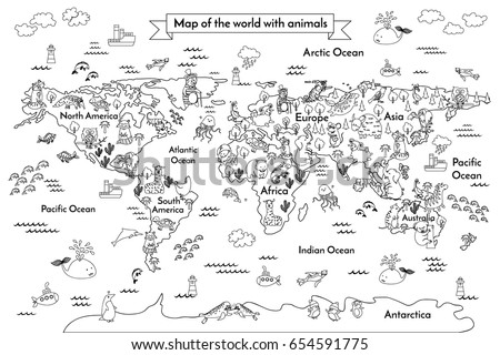 Coloring book map world cartoon globe stock illustration 654591775 coloring book map world cartoon globe stock illustration 654591775 shutterstock gumiabroncs Image collections