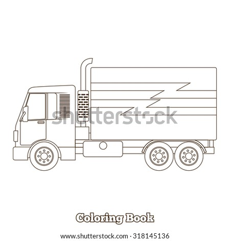coloring book truck raster version - Coloring Book Truck