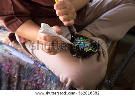 Coloring for tourist golf driving, Bo Sang, Chiang Mai, Thailand. - stock photo