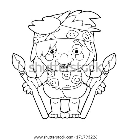 cave man coloring pages - photo#42