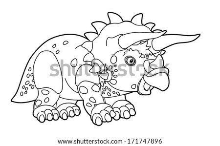 Coloring page - dinosaur - illustration for the children - stock photo