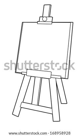 Coloring Page Easel Illustration Children Stock Illustration ...