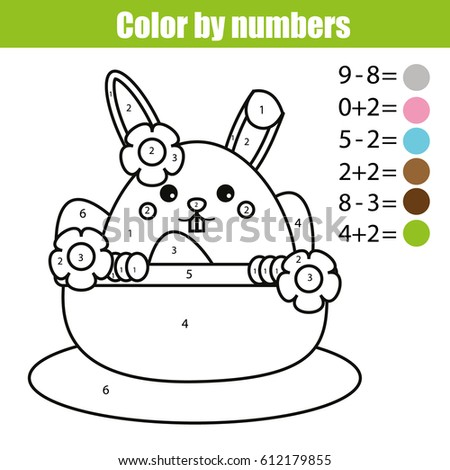 coloring page easter bunny character color stock illustration 612179855 shutterstock - Bunny Pictures To Color 2