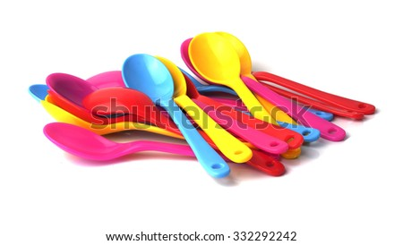 Coloring spoon isolated on white background
