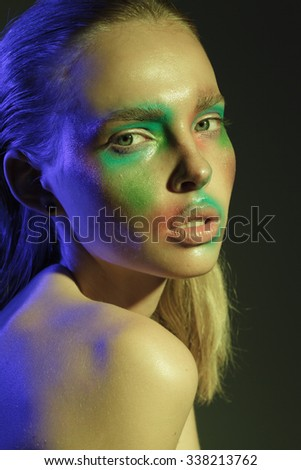 colorized face