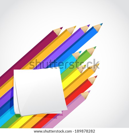 colors and post illustration design over a white background - stock photo