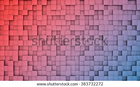 Colors cubes abstract background