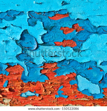 Colors dry stretch pattern. On the floor. - stock photo