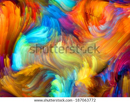 Colors In Bloom series. Backdrop composed of fractal color textures and suitable for use in the projects on imagination, creativity and design - stock photo