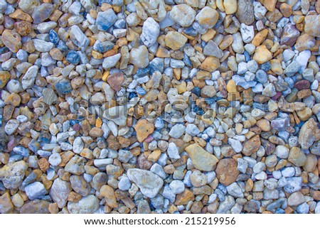 Colors of pebbles, Pebbles on the beach, background texture of colorful small stones  - stock photo