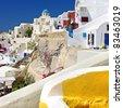 colors of Santorini series - stock photo