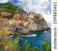 colors of sunny Italy series - Monarola - stock photo