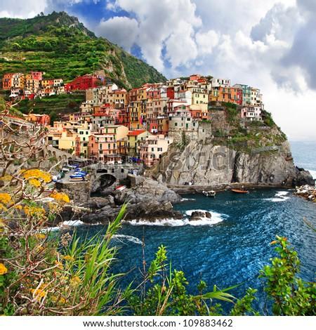 colors of sunny Italy series - Monarola - stock photo