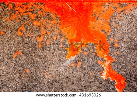 Colors paint drops on the floor abstract background - stock photo