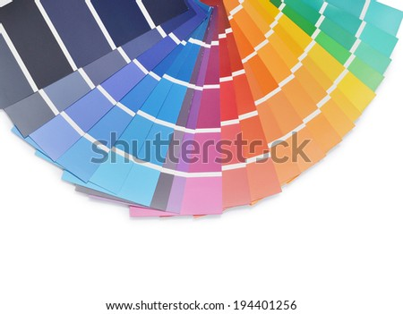 Colors palette isolated on white - stock photo